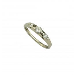 Pierścionek złoty z Diamentami  wykonany  ręcznie
