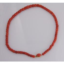 Naszyjnik z korali czerwonych