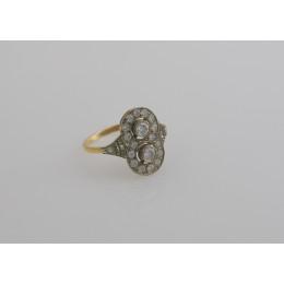Pierścionek złoty  Brylanty + Diamenty