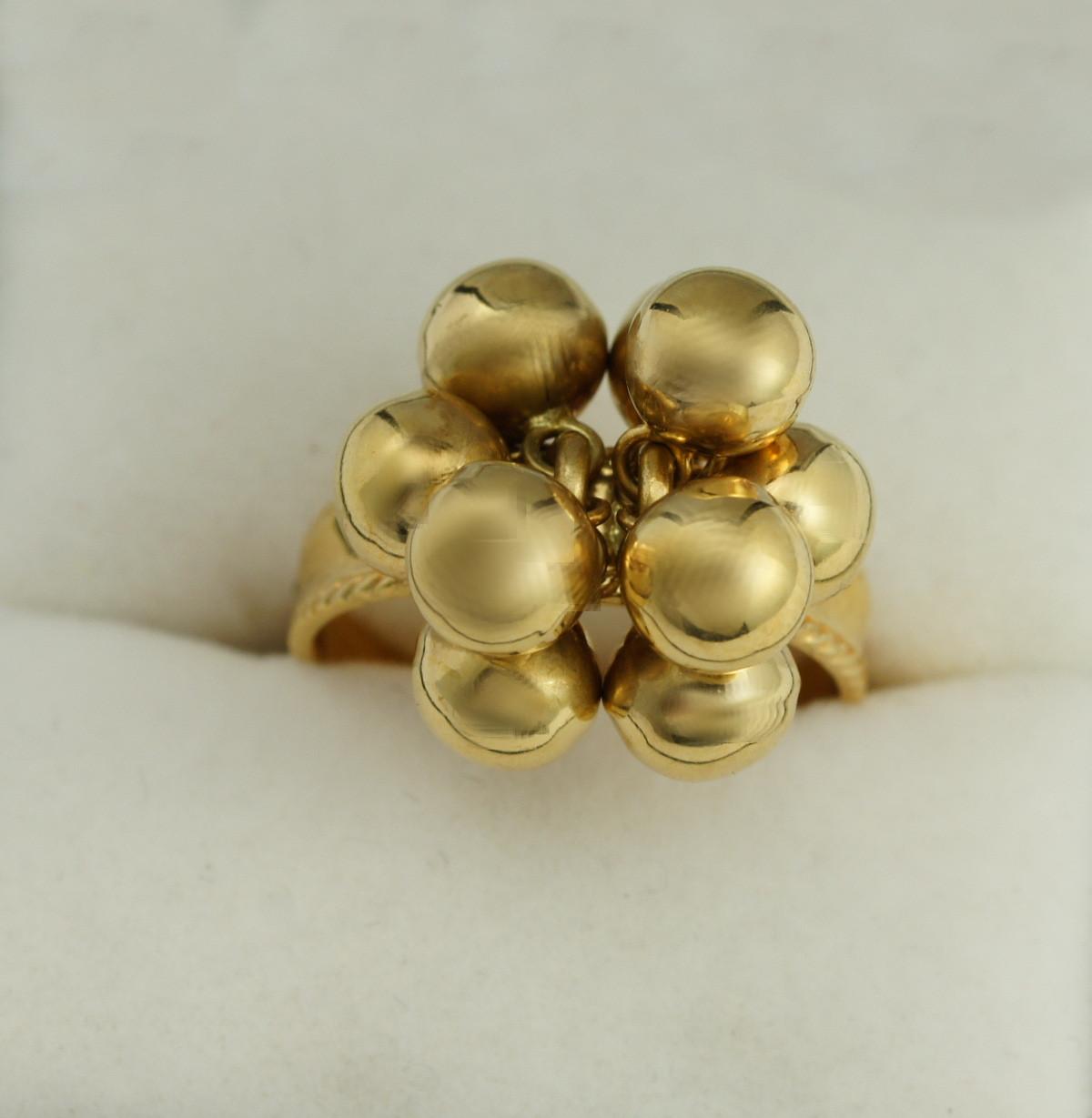 809fd3d711ce19 Pierścionek Złoty Kulki Pierścionki Biżuteria Antykwaryczna