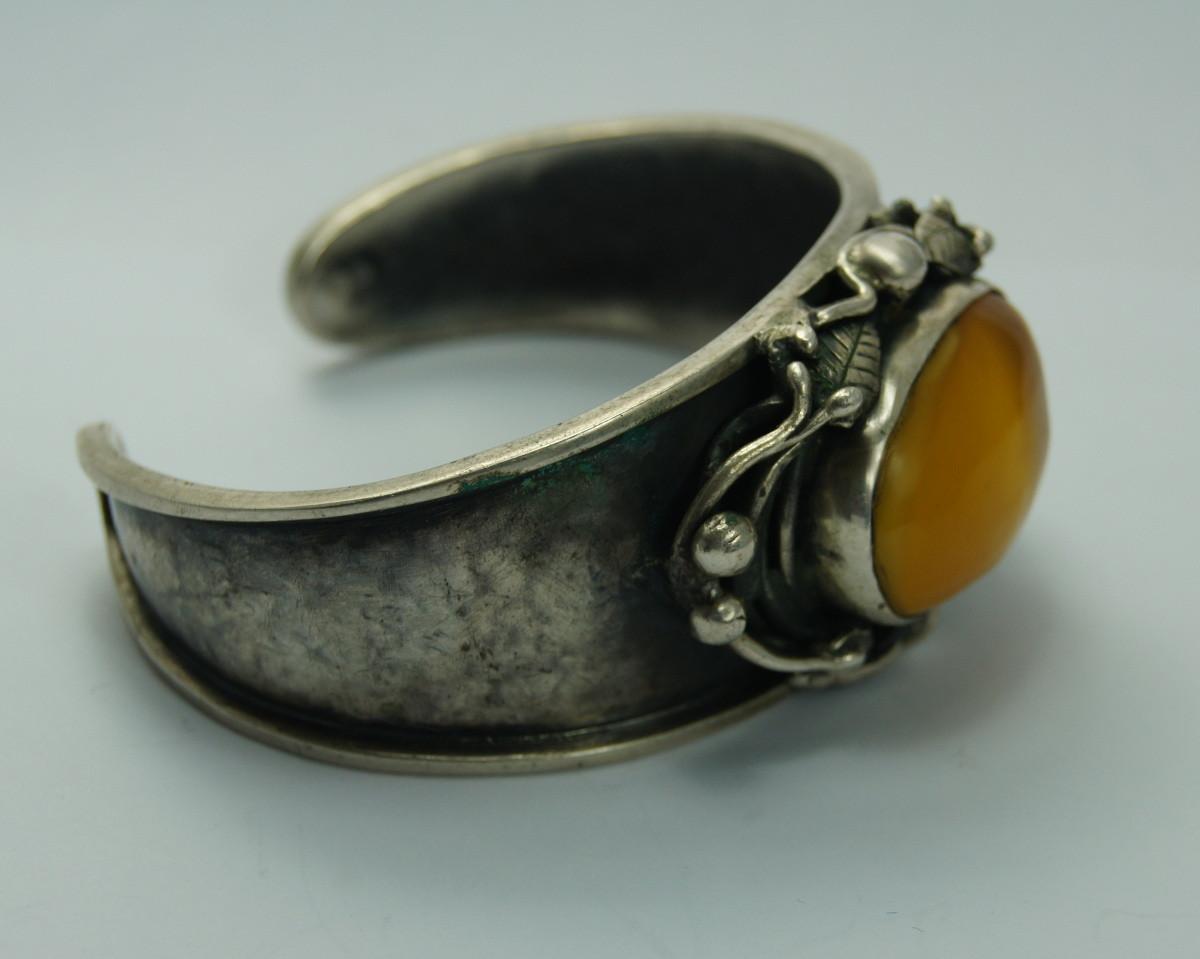 f8163746f6f3 Bransoleta ORNO z Bursztynem - Stare srebra