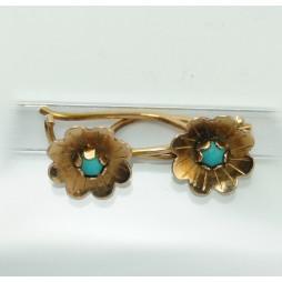 Kolczyki Złote z Turkusami