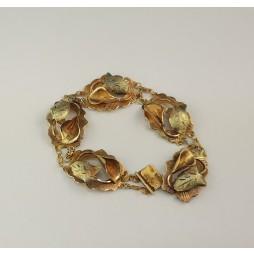 BRANSOLETA  złota motyw liści