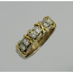 Obrączka złota wysadzana Diamentami