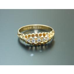 Pierścionek złoty Kamienie Diamenty