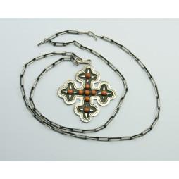 KPL Srebrny Wisior + łańcuch