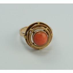 Pierścionek złoty z Koralem WARMET